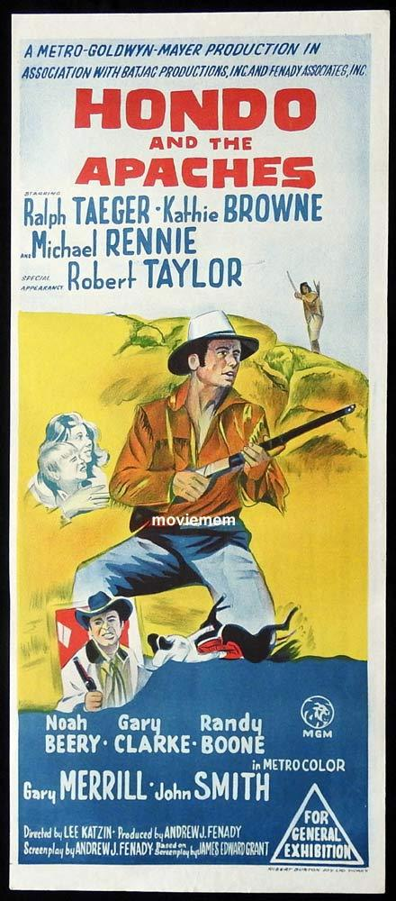 HONDO AND THE APACHES Original Daybill Movie Poster
