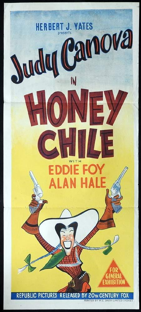 HONEY CHILE Daybill Movie poster Judy Canova Eddie Foy