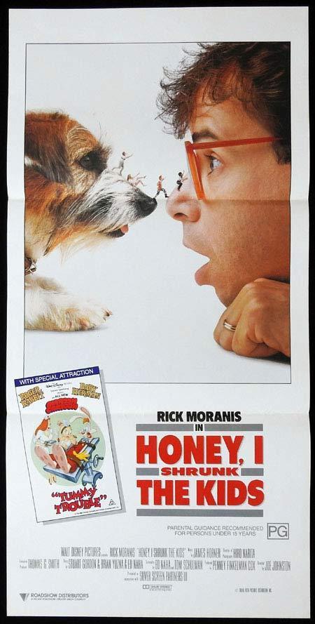Honey I Shrunk The Kids Original Daybill Movie Poster Rick Moranis Roger Rabbit Moviemem Original Movie Posters