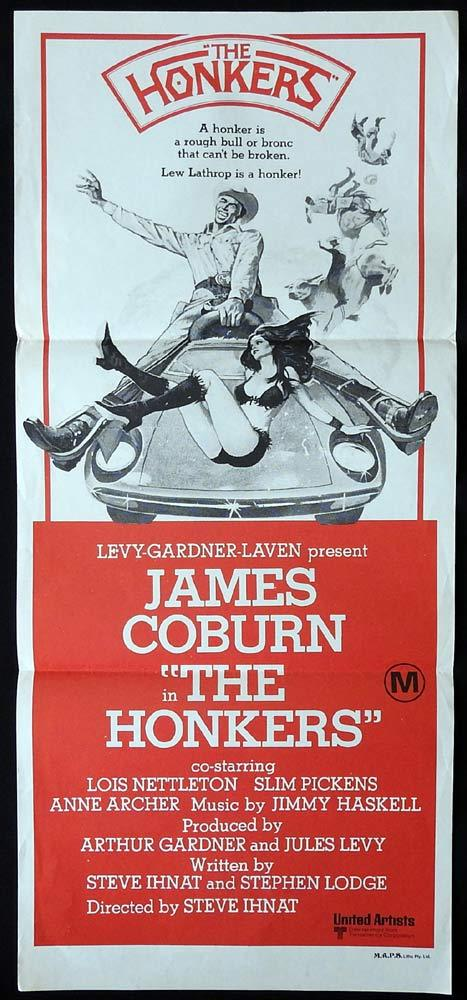 THE HONKERS Original Daybill Movie poster James Coburn Lois Nettleton