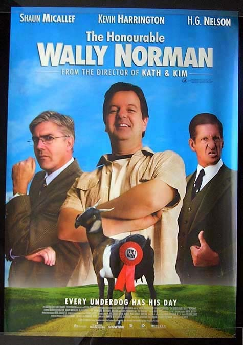 THE HONOURABLE WALLY NORMAN Shaun Micallef Movie Poster Australian One sheet