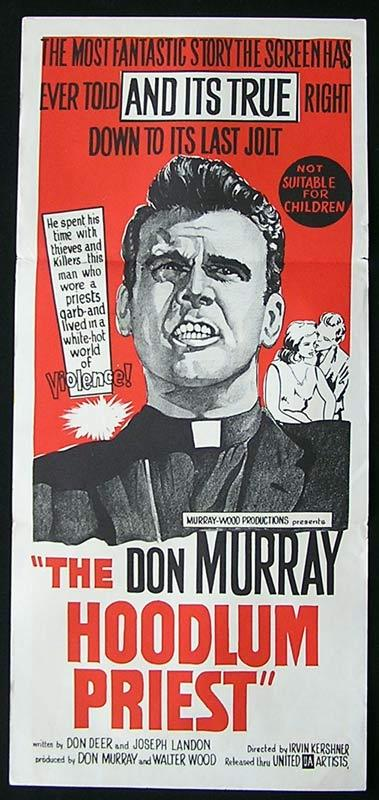 THE HOODLUM PRIEST Daybill Movie Poster Don Murray Keir Dullea Larry Gates