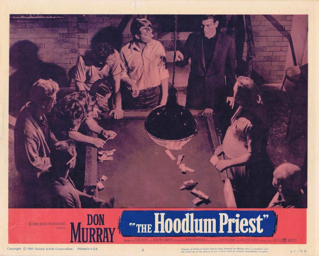 THE HOODLUM PRIEST 1961 Don Murray Film Noir Lobby Card 8