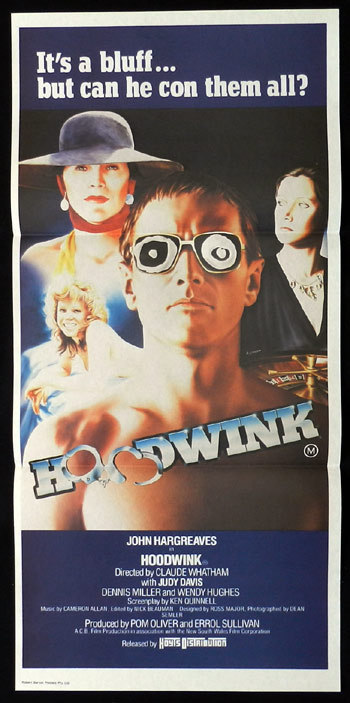 HOODWINK Movie Poster 1981 John Hargraeves Rare Australian Daybill