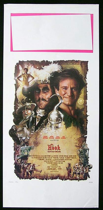 HOOK Italian Locandina Movie Poster Robin Williams Dustin Hoffman