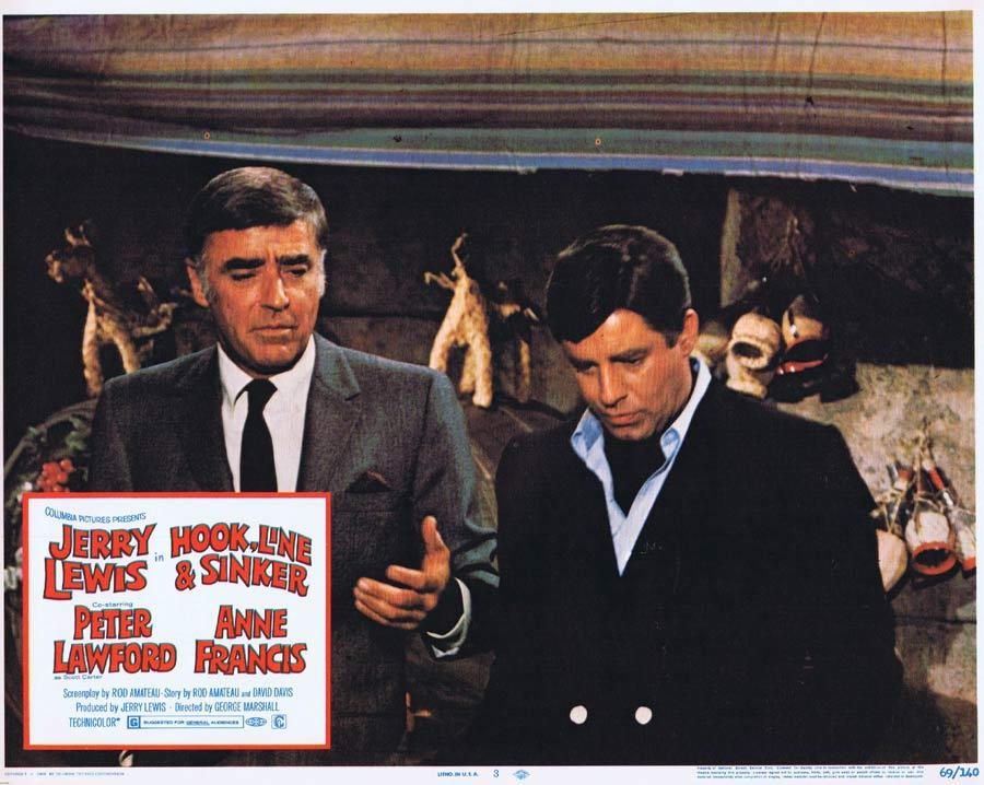 HOOK LINE AND SINKER Lobby Card 3 Jerry Lewis Peter Lawford