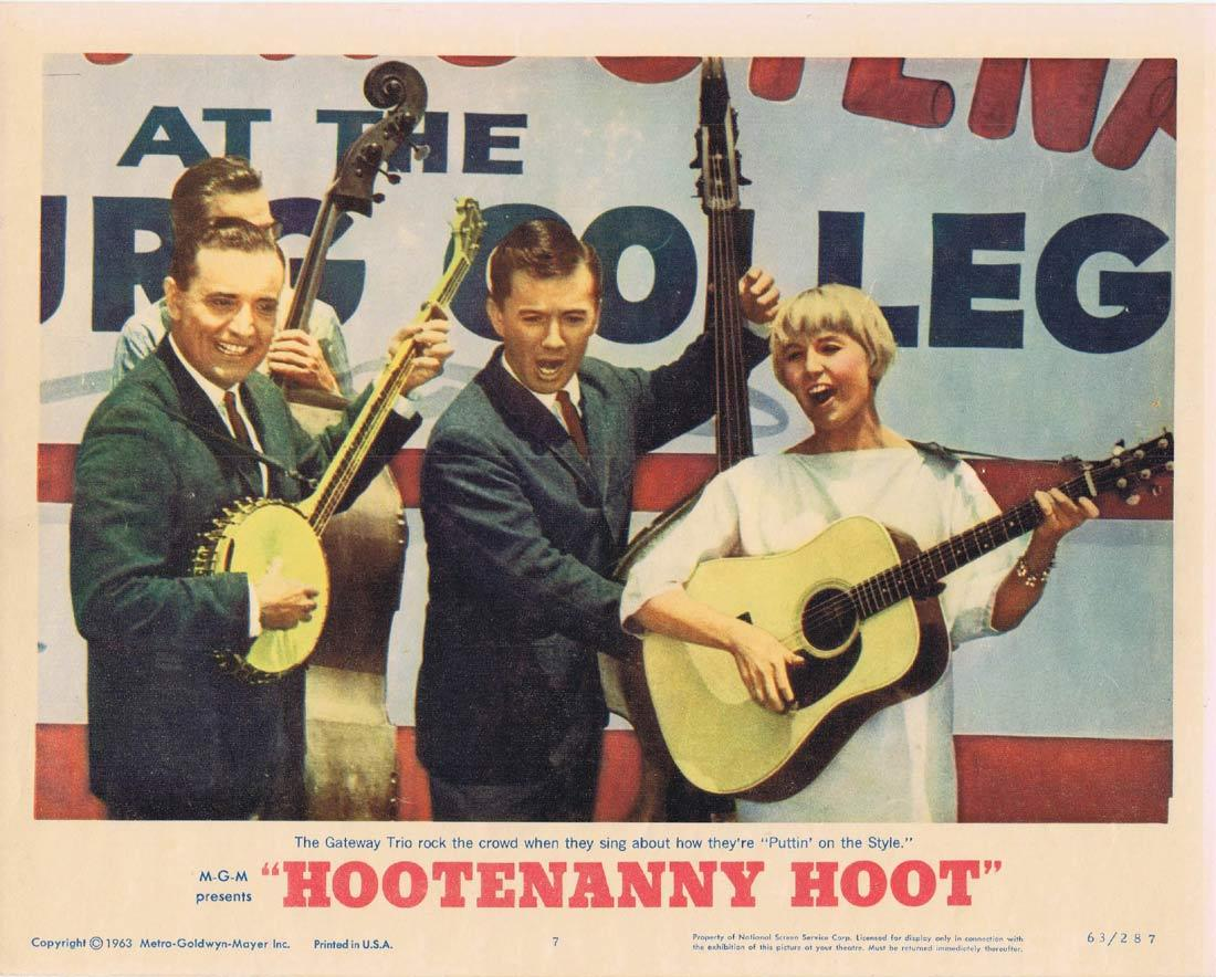 HOOTENANNY HOOT Lobby Card 7 The Gateway Trio