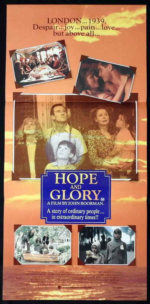 HOPE AND GLORY Original Daybill Movie poster Sarah Miles David Hayman
