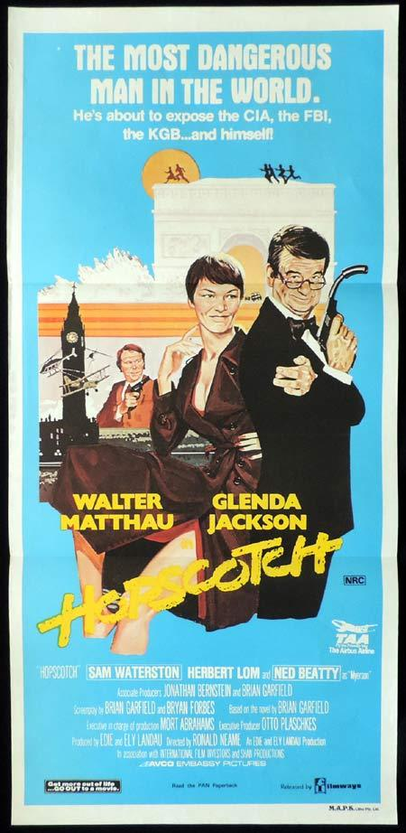 HOPSCOTCH Original Daybill Movie Poster Walter Matthau Glenda Jackson