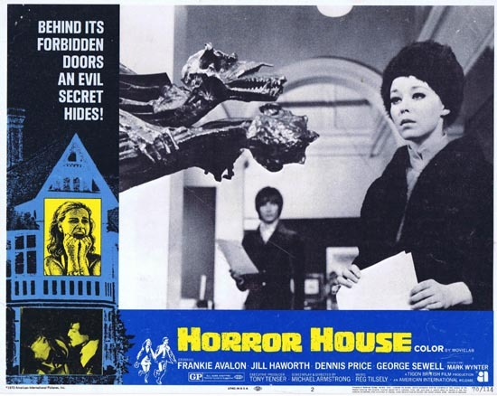 HORROR HOUSE 1970 Frankie Avalon Jill Haworth Lobby Card 2