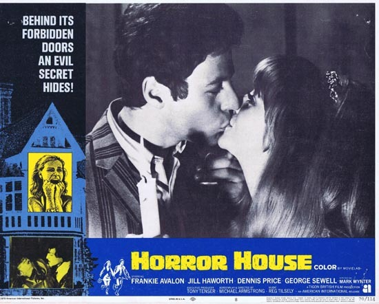 HORROR HOUSE 1970 Frankie Avalon Jill Haworth Lobby Card 8