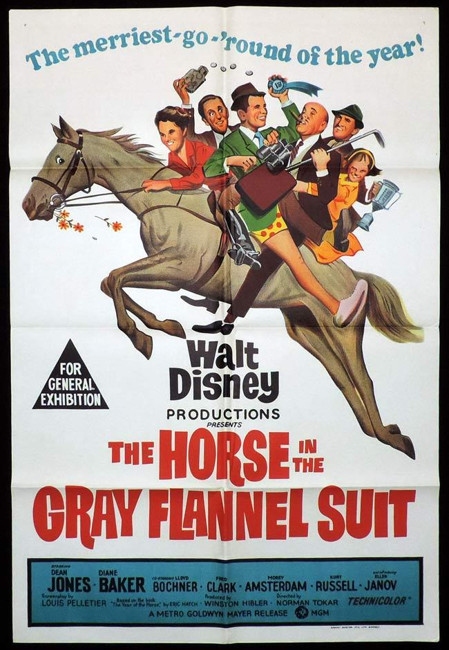 HORSE IN THE GREY FLANNEL SUIT One Sheet Movie Poster Dean Jones Disney