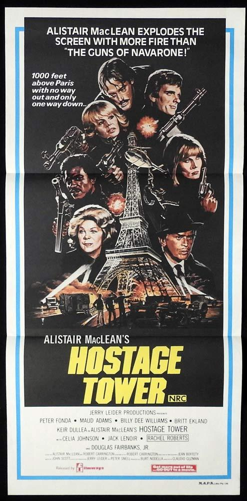 THE HOSTAGE TOWER Original Daybill Movie poster Peter Fonda Maud Adams