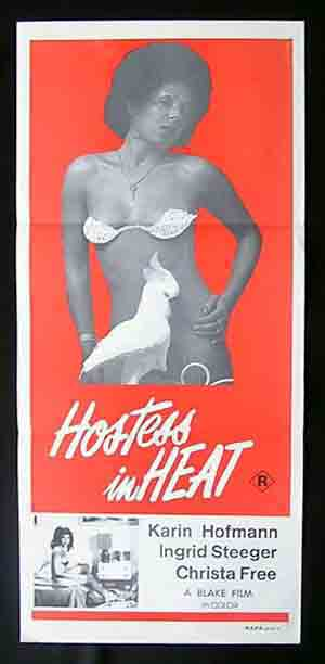 HOSTESS IN HEAT '72-Karin Hoffman-SEXPLOITATION daybill