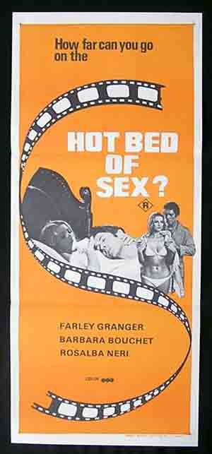 HOT BED OF SEX aka AMUCK '72-Farley Granger daybill