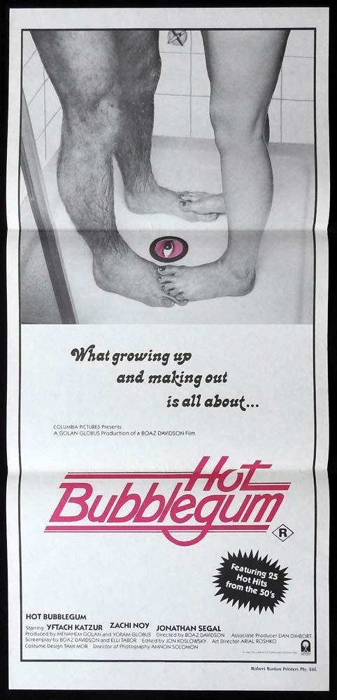 HOT BUBBLEGUM Original Daybill Movie Poster Boaz Davidson Popsicle Zachi Noy