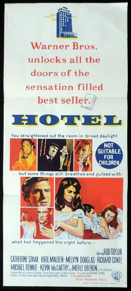 HOTEL Original Daybill Movie Poster Rod Taylor Catherine Spaak