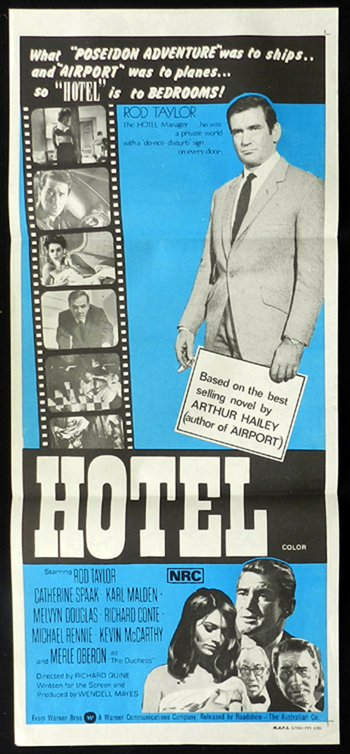 HOTEL Rod Taylor Catherine Spaak RARE Daybill Movie poster