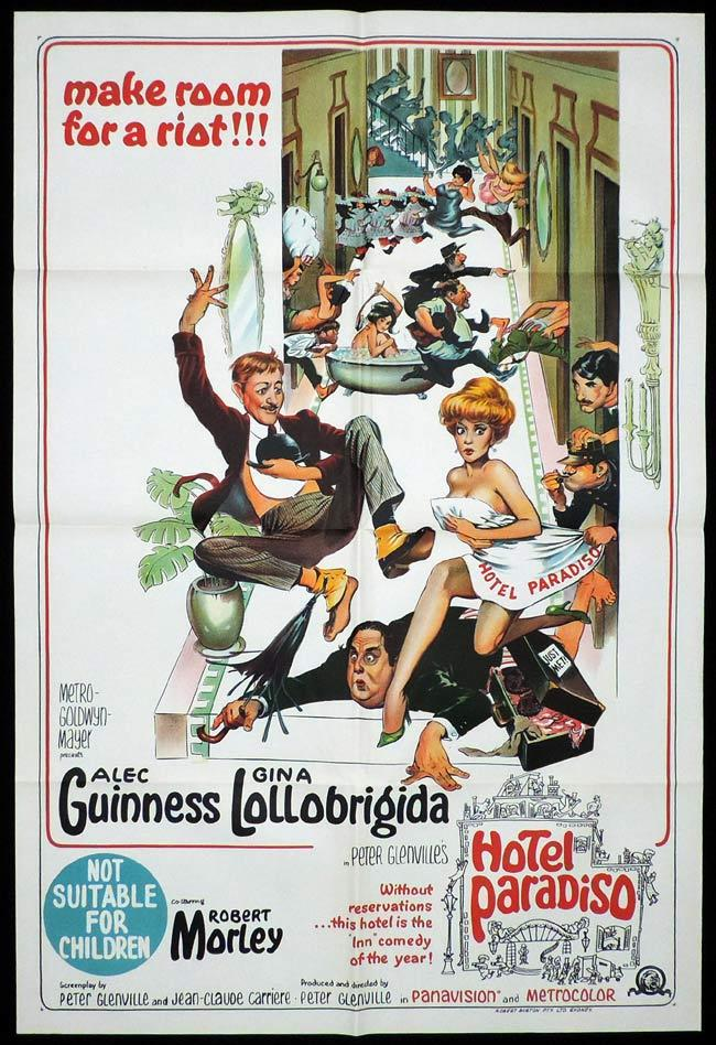 HOTEL PARADISO One Sheet Movie Poster Alec Guinness