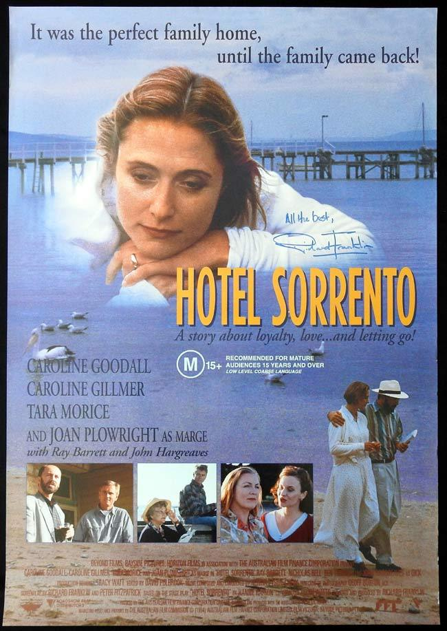HOTEL SORRENTO Original One sheet Movie poster Richard Franklin Autograph