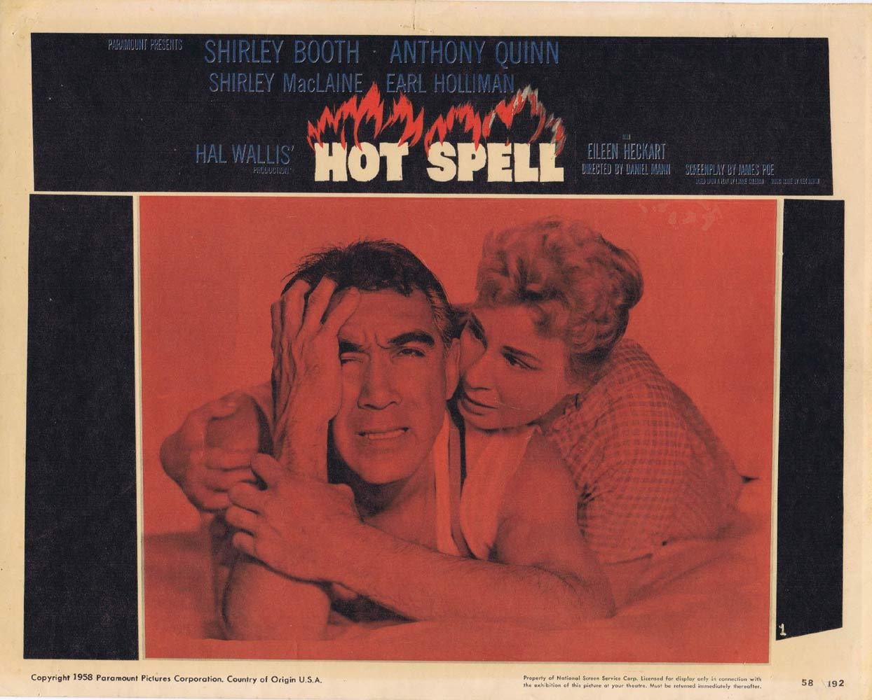 HOT SPELL Lobby Card 1 Anthony Quinn Shirley MacLaine