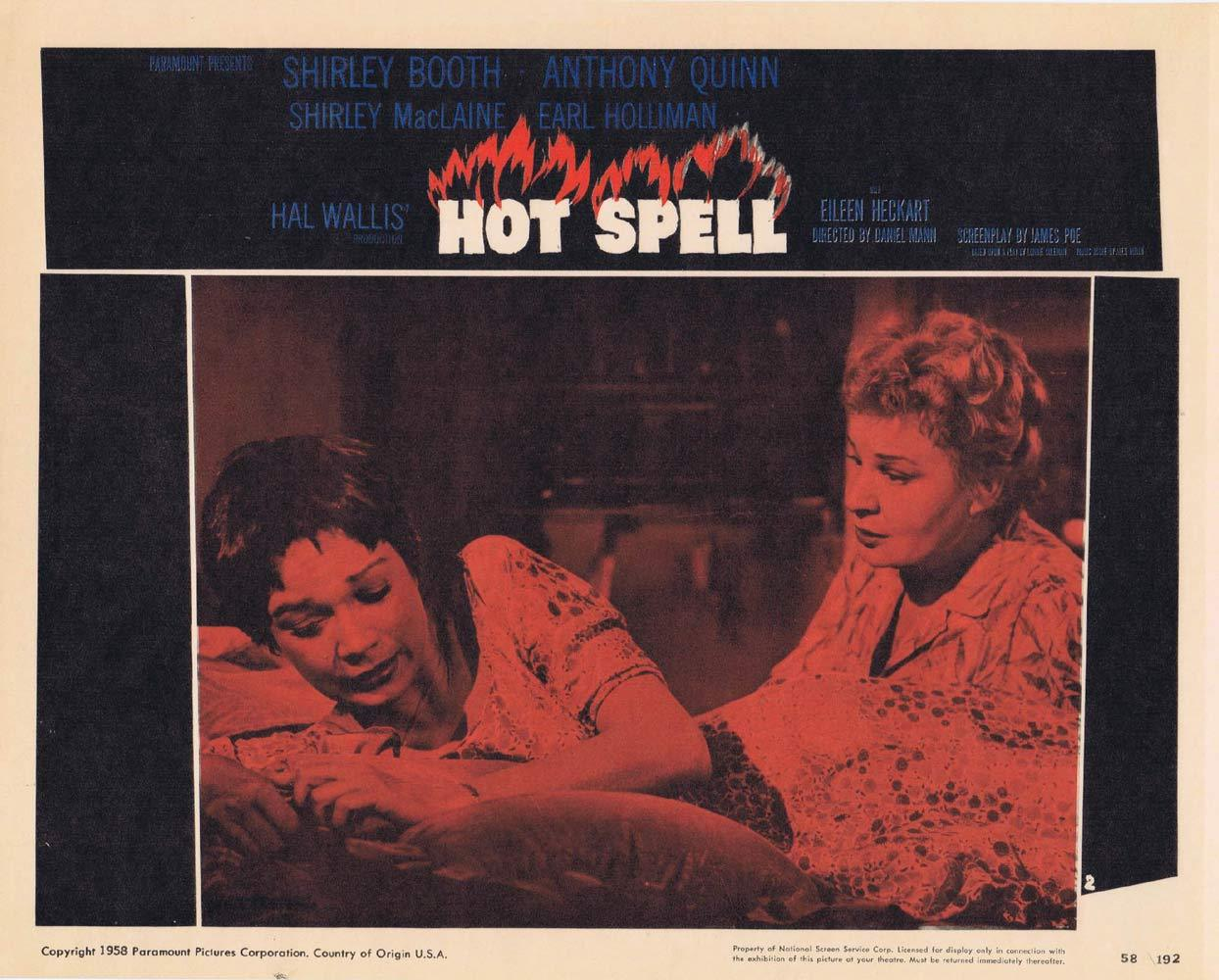 HOT SPELL Lobby Card 2 Anthony Quinn Shirley MacLaine