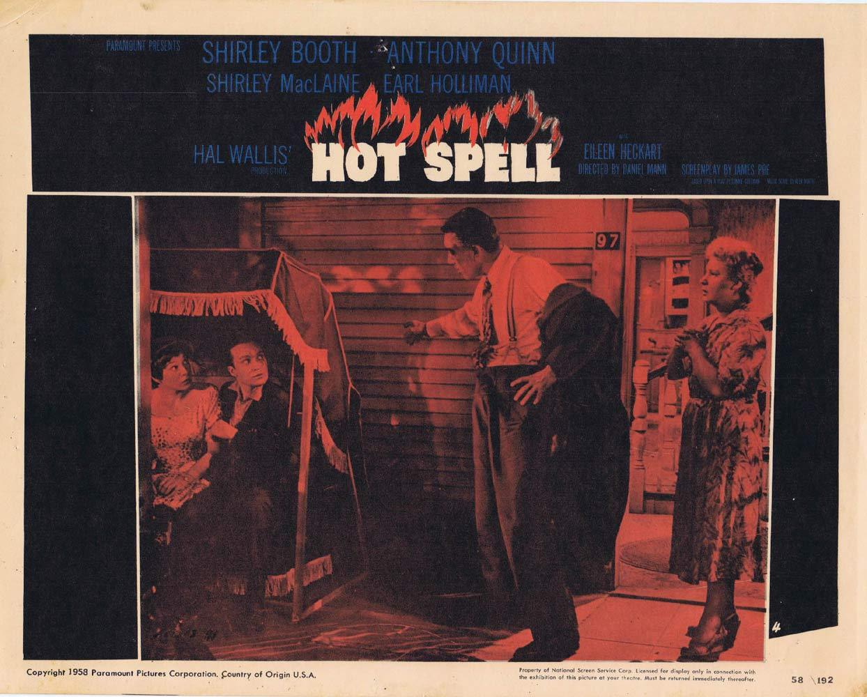 HOT SPELL Lobby Card 4 Anthony Quinn Shirley MacLaine