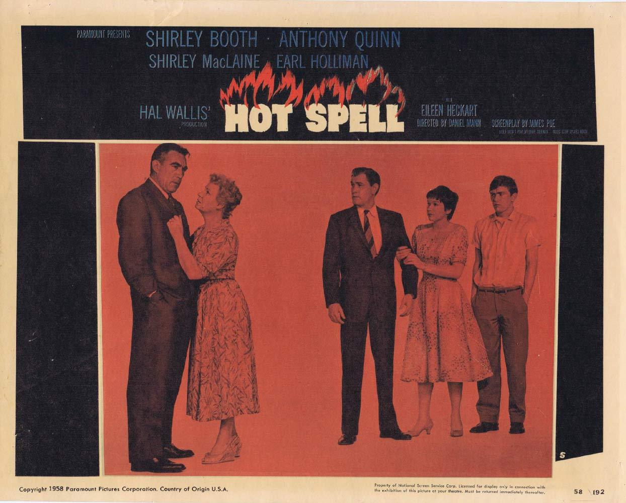 HOT SPELL Lobby Card 5 Anthony Quinn Shirley MacLaine