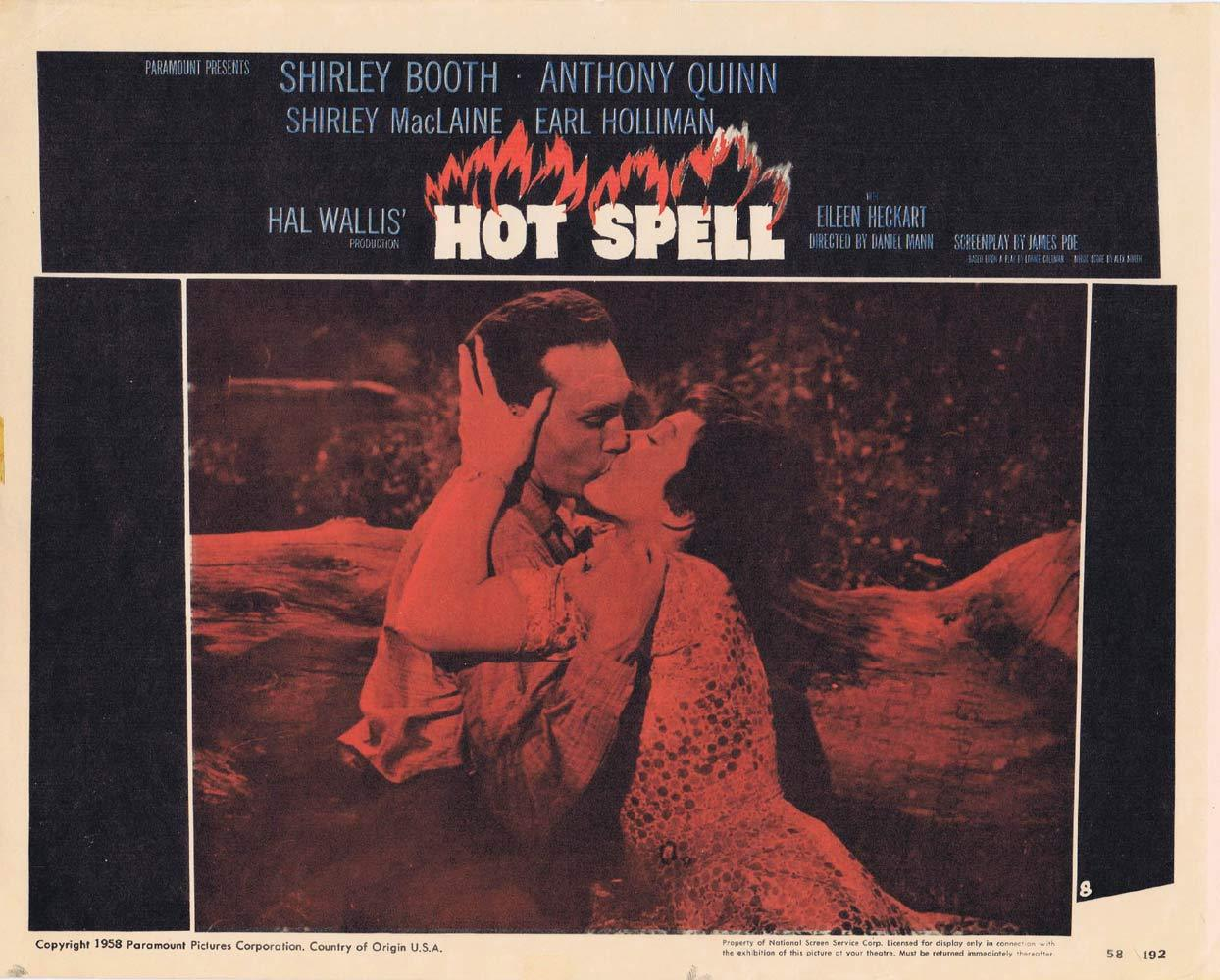 HOT SPELL Lobby Card 8 Anthony Quinn Shirley MacLaine