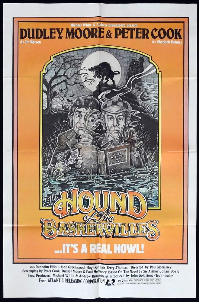 THE HOUND OF THE BASKERVILLES Original One sheet Movie poster Peter Cook Dudley Moore