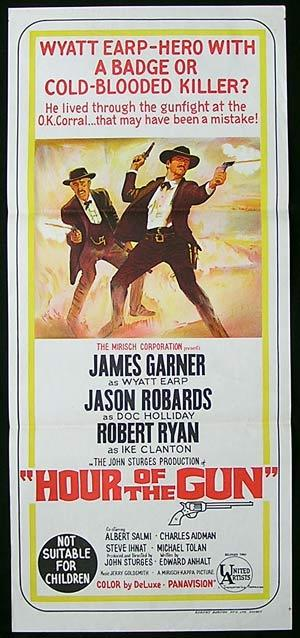 HOUR OF THE GUN Original Daybill Movie poster James Garner Jason Robards