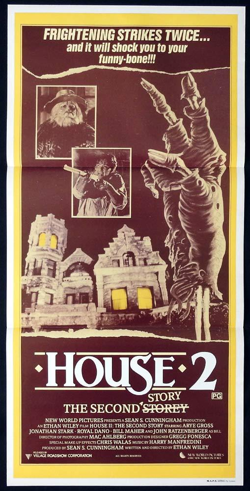 HOUSE II THE SECOND STORY Original Daybill Movie poster Arye Gross Horror