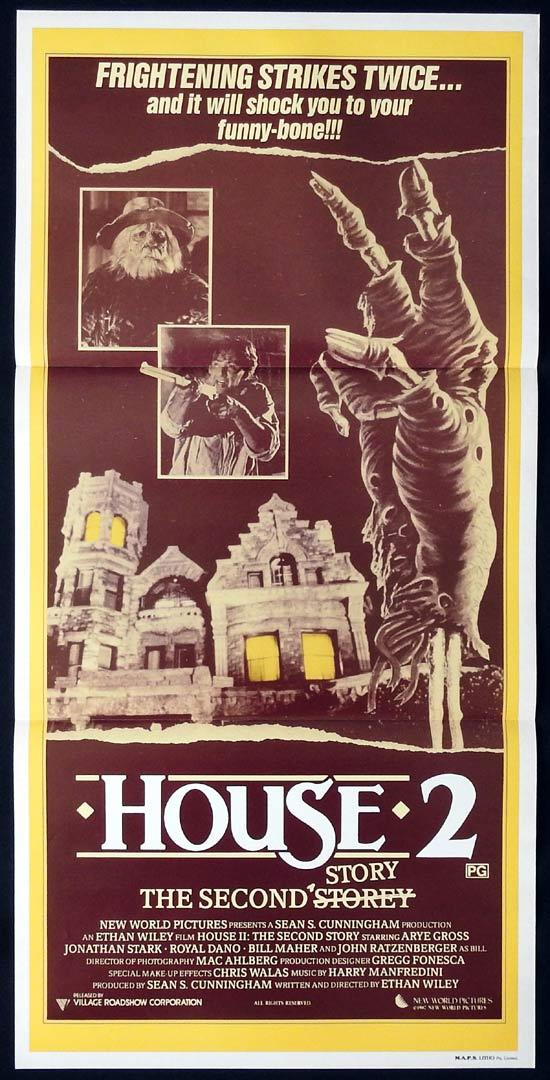 HOUSE 2 Original Daybill Movie Poster Arye Gross Supernatural Horror