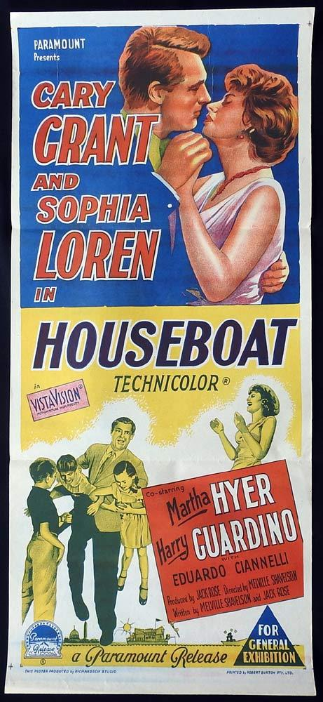 HOUSEBOAT Original Daybill Movie Poster Sophia Loren Cary Grant