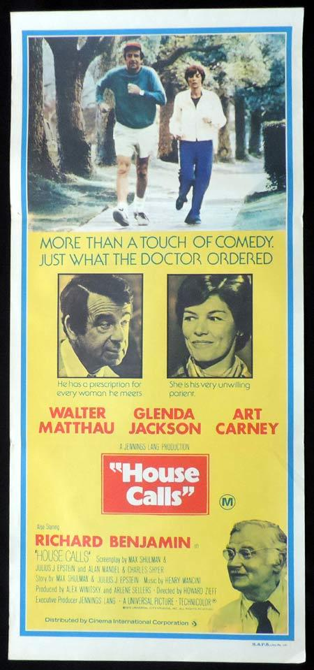 HOUSE CALLS Original Daybill Movie Poster Walter Matthau