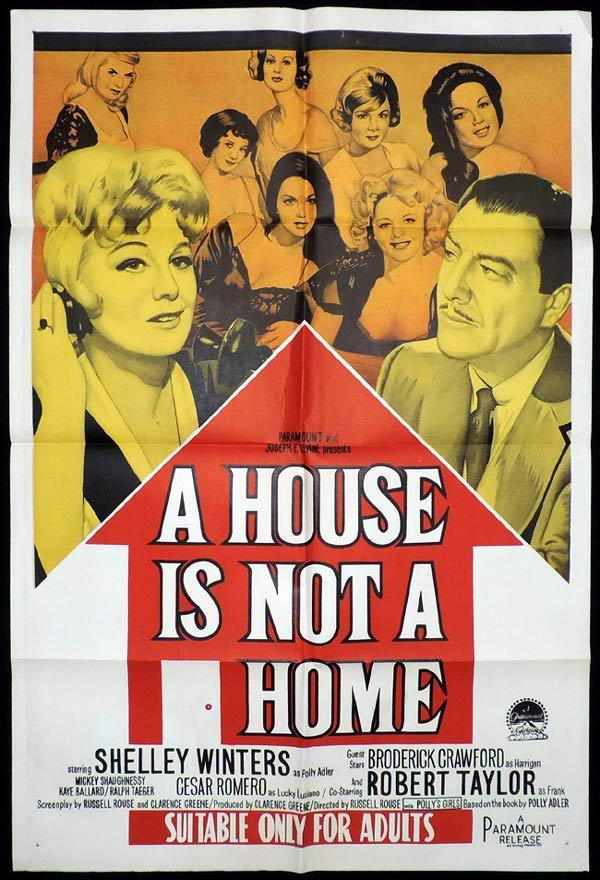 A HOUSE IS NOT A HOME One Sheet Movie Poster Shelley WInters