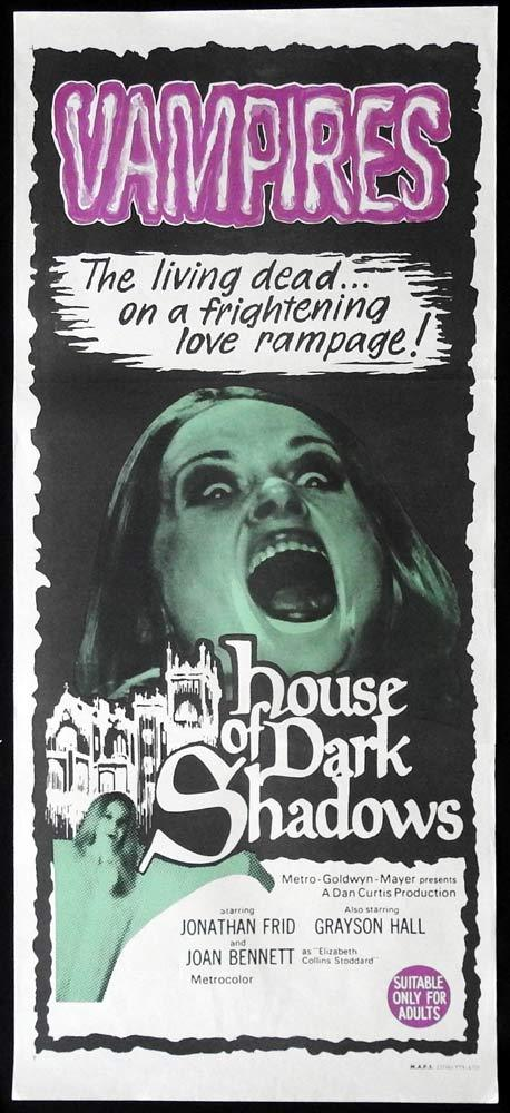 HOUSE OF DARK SHADOWS Daybill Movie Poster Jonathan Frid