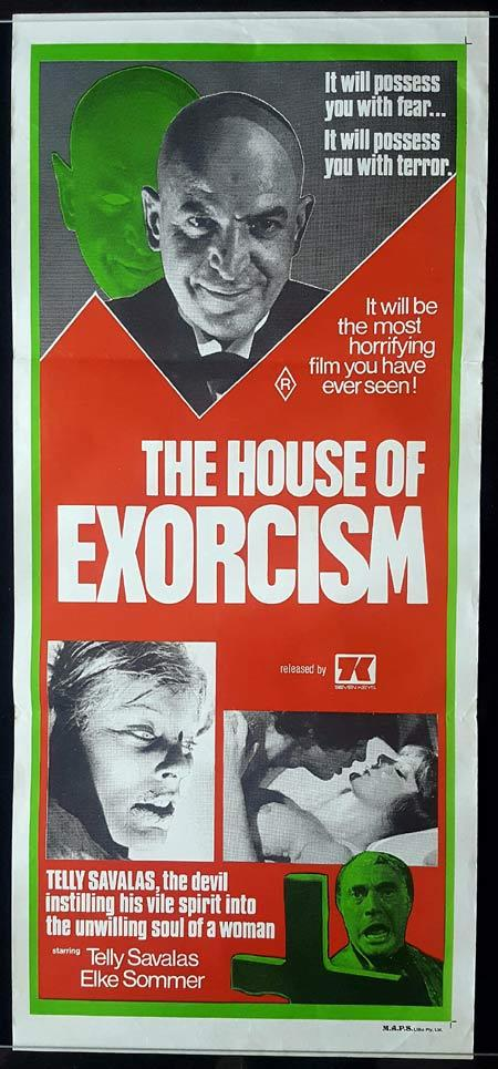 THE HOUSE OF EXORCISM Daybill Movie Poster Telly Savalas Horror
