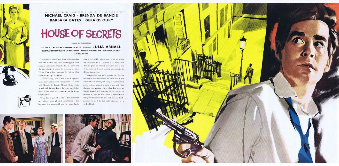 HOUSE OF SECRETS Original Movie Trade Ad Michael Craig