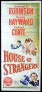 HOUSE OF STRANGERS Original Daybill Movie Poster Edward G. Robinson