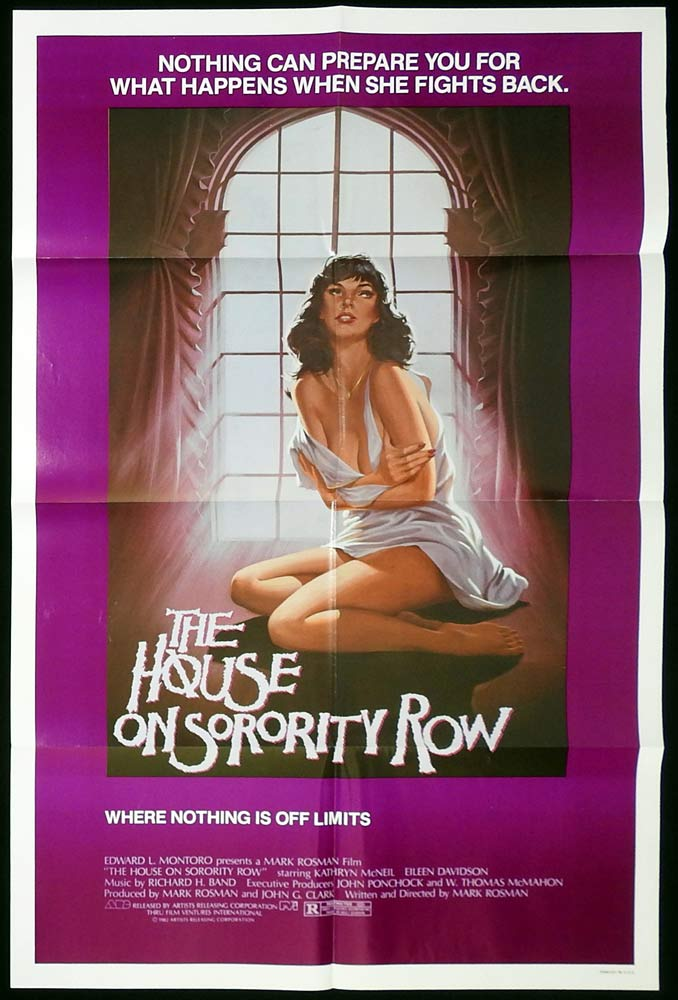 THE HOUSE ON SORORITY ROW Original US One Sheet Movie Poster Horror Kate McNeil Eileen Davidson