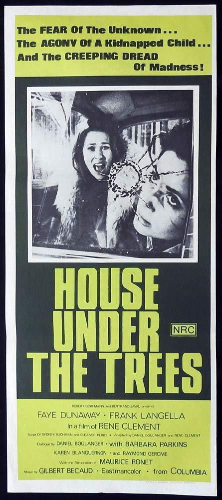 HOUSE UNDER THE TREES Original Daybill Movie Poster Faye Dunaway Frank Langella