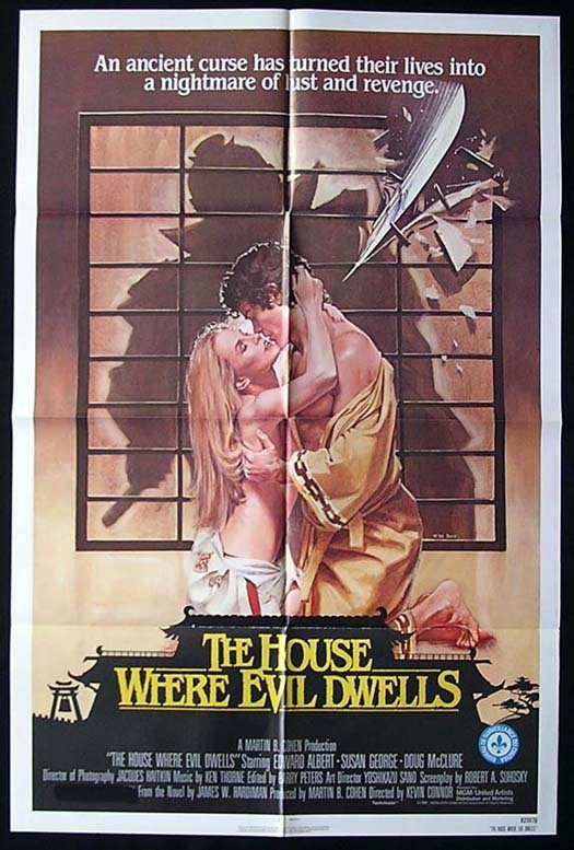 HOUSE WHERE EVIL DWELLS One sheet Movie poster 1982 Susan George