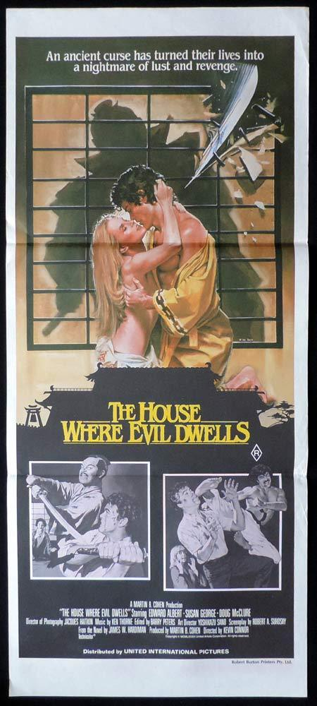 HOUSE WHERE EVIL DWELLS Daybill Movie Poster Edward Albert Susan George Horror