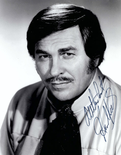 "Authentic Howard Keel Autographed Black and White Photo 8"" x 10""."