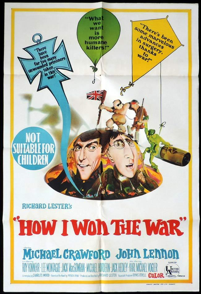 HOW I WON THE WAR One Sheet Movie Poster Michael Crawford John Lennon