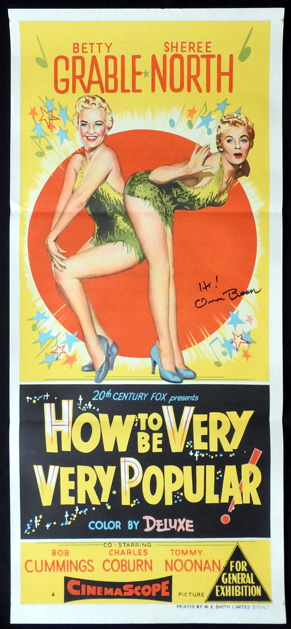 HOW TO BE VERY VERY POPULAR Original Daybill Movie Poster ORSON BEAN Autograph