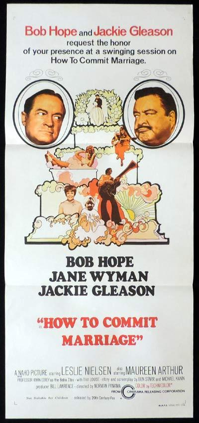 HOW TO COMMIT MARRIAGE daybill Movie poster Bob Hope Jackie Gleason