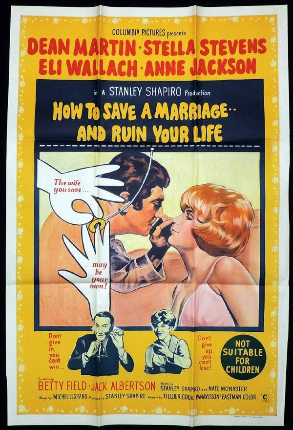 HOW TO SAVE A MARRIAGE AND RUIN YOUR LIFE One Sheet Movie Poster Dean Martin