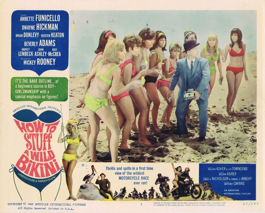HOW TO STUFF A WILD BIKINI Original Lobby Card 2 Annette Funicello Dwayne Hickman
